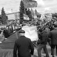 В Луцьку націоналісти розігнали комуністів-сталіністів