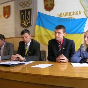 Під час колегії управління сім'ї, молоді та спорту 2007 р.Б.