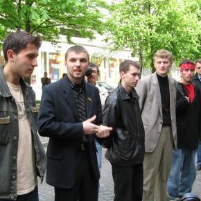 Прес-конференція у Києві після повернення з білоруських застінок 2005 р.Б.