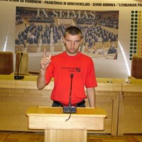 Під час відвідин литовського Сейму 2006 р.Б.