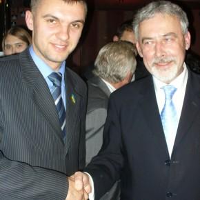 З міським головою Любліна Адамом Василевським 2006 р.Б.