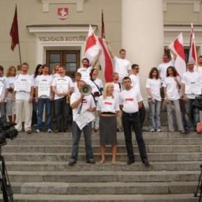 Під час спільної білорусько-українсько-литовської акції у Вільнюсі 2006 р.Б.