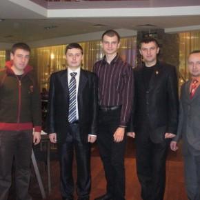 З представниками російської опозиції у Москві 2008 р.Б.