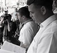 «Останнє попередження» від Ігоря Гузя : конфлікт під час пікету Волинського УМВС